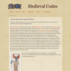 Medieval Codes : 25 best from the Luttrell Psalter