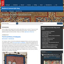 Medieval manuscripts blog