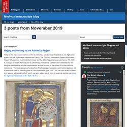 Medieval manuscripts blog: November 2019