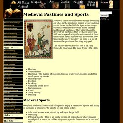 Medieval pastimes and sports