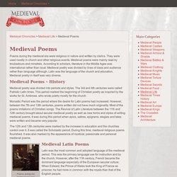 Medieval Poems