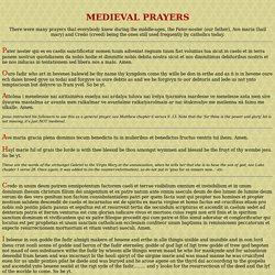 MEDIEVAL PRAYERS