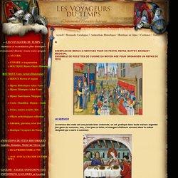 exemple type de menu repas médiéval avec recettes et boissons de cuisine médiévale du moyen age