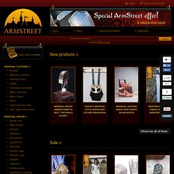 medieval store - renaissance and medieval dresses, knight armor and handmade boots and shoes :: ArmStreet