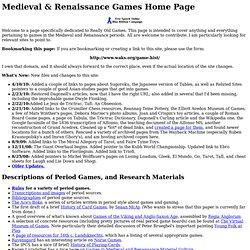 Medieval & Renaissance Games