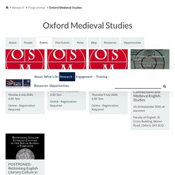 The Oxford Research Centre in the Humanities