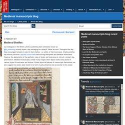 Medieval Shelfies - Medieval manuscripts blog