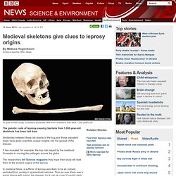 Medieval skeletons give clues to leprosy origins