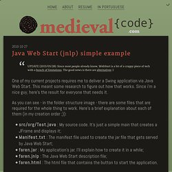 Medieval Code - Java Web Start (jnlp) simple example