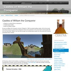 TimeRef - Medieval and Middle Ages History Timelines - Castles of William the Conqueror