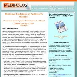 Medifocus Guidebook on Parkinson's Disease