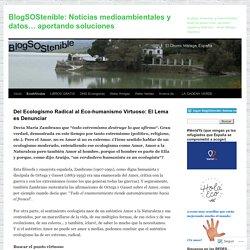 BlogSOStenible: Noticias medioambientales y datos… aportando soluciones