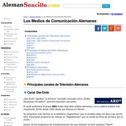 Los Medios de Comunicación Alemanes