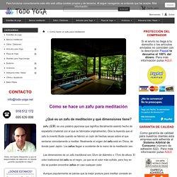 Cómo hacer un zafu para meditación - Esterillas Yoga - Bancos Meditación - Zafus y Zafutones - Artículos Yoga