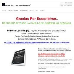MiniCurso - Meditación yProgramación Mental®