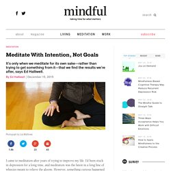 Intention, No Unrealistics Goals
