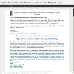 Meditation, Nature, and Saam Acupuncture; Saam Akupunktur; Acupuntura Saam. Korean Acupuncture