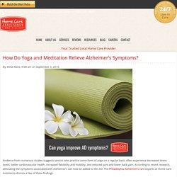 Yoga and Meditation Help Alleviate Alzheimer's Symptoms