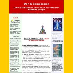 Le cours de méditation à Paris, atelier de méditation pratique.