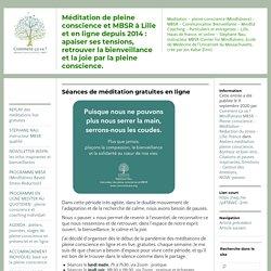 Méditation de pleine conscience et MBSR à Lille et en ligne depuis 2014 : apaiser ses tensions, retrouver la bienveillance et la joie par la pleine conscience.