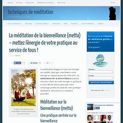 Exercice de méditation sur la bienveillance (metta)