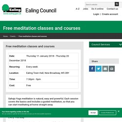 Free meditation classes and courses