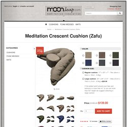 Meditation Crescent Cushion (Zafu)