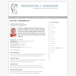 Meditation and Buddhism drop-in classes in Surry Hills - Darlinghurst - Meditation & Buddhism in Sydney