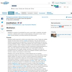 meditation - definition of meditation by Medical dictionary
