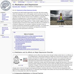 4. Meditation and Depression - Neurowiki 2014