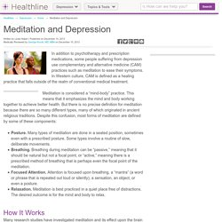 Meditation and Depression