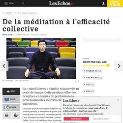 De la méditation à l'efficacité collective