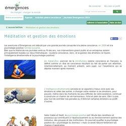 Méditation et gestion des émotions - Emergences.org