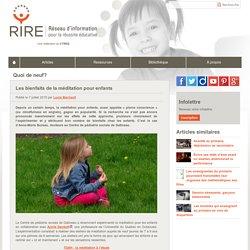 La méditation pour enfants en pédiatrie sociale