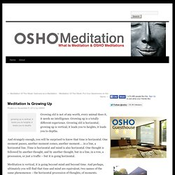 Meditation Is Growing Up - Meditation - What Is Meditation & OSHO Meditations