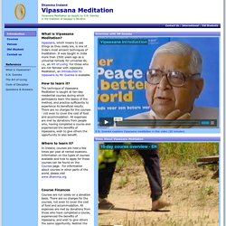 Vipassana Meditation: Introduction