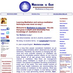 Meditation is easy !- Learn meditation with effortless ease