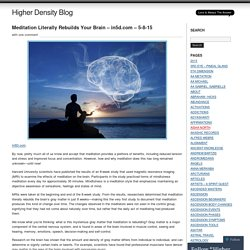 Higher Density Blog