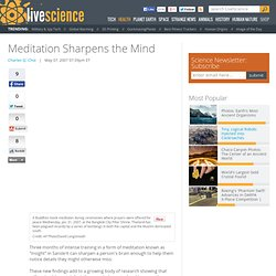 Meditation Sharpens the Mind