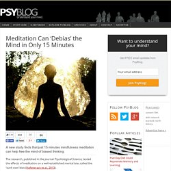 Meditation Can 'Debias' the Mind in Only 15 Minutes