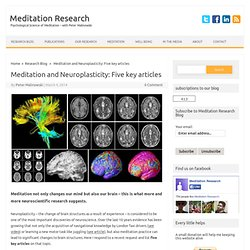 Meditation and Neuroplasticity: Five key articles