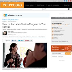How To Start a Meditation Program in Your School