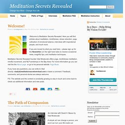 Meditation Secrets Revealed