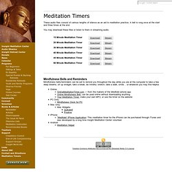 Meditation Timers: Insight Meditation Center