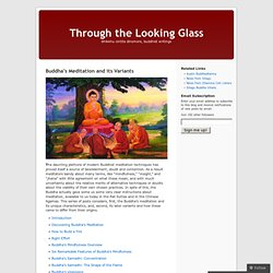 Buddha's Meditation and its Variants « Through the Looking Glass