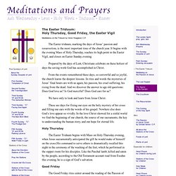 Meditations and Prayers for Lent and Easter