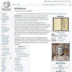 Meditations - Wikipedia