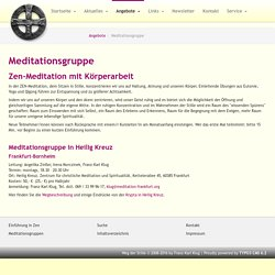 Meditationsgruppe: Christliche Meditation in Frankfurt a. M.