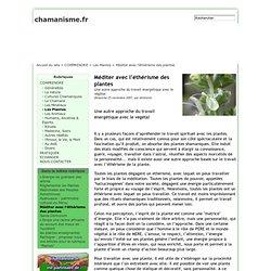 Méditer avec l'éthérisme des plantes