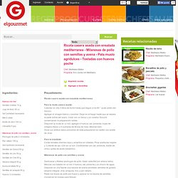 Ricota casera asada con ensalada mediterranea - Milanesas de pollo con semillas y avena - Pata muslo agridulces - Tostadas con huevos poche en elgourmet